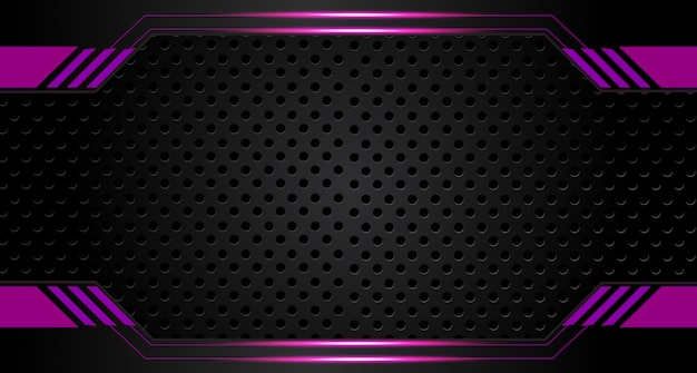 Abstract vector graphic brochure design background purple and black