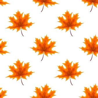 Абстрактные векторные иллюстрации осенний фон с падающими осенними листьями. бесшовные модели. eps10