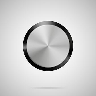 抽象的なベクトルイラストポリゴンシリンダー空白の金属ボタンテンプレート