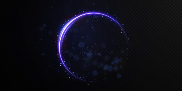 추상적 인 벡터 빛 네온 라인 소용돌이 소용돌이
