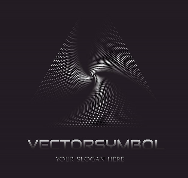 Abstract vector logo template. optical illusion.