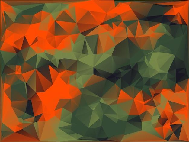 幾何学的な三角形の形で作られた抽象的なベクトルミリタリー迷彩の背景。多角形のスタイル。