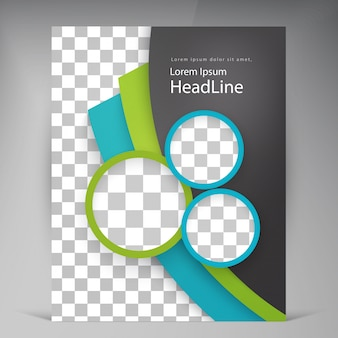 Abstract vector modern flyers brochure.