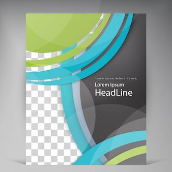 Abstract vector modern flyers brochure.