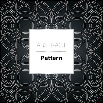Abstract vector pattern in black and silver colors