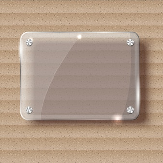 Abstract vector plane on white wall