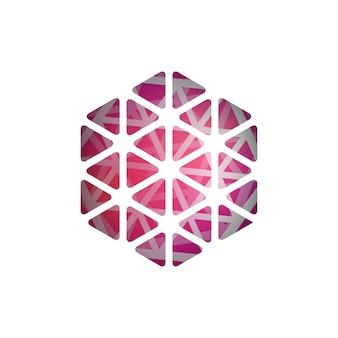 抽象的なベクトル多角形形状抽象的なモダンな幾何学的デザインテンプレート