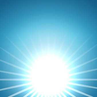 Abstract vector rising sun background