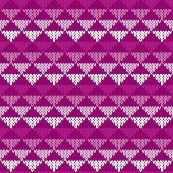 抽象的なベクトルのシームレスなニットパターン