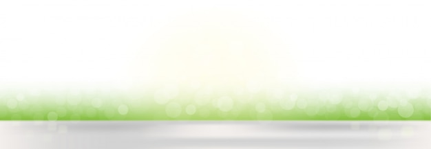 Abstract vector spring defocused banner background with blurred lights