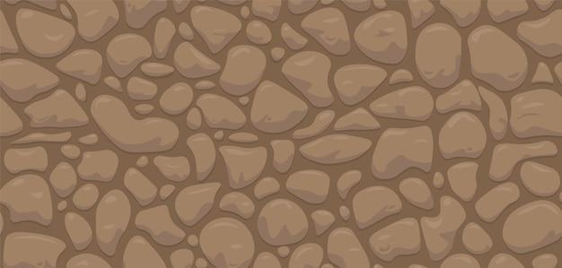 Abstract vector stone wall. seamless cartoon pattern