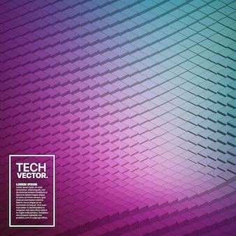 Abstract vector tech waveform backdrop