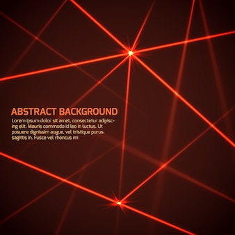 Abstract vector technology background with security red laser beams