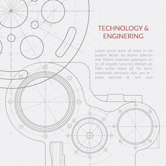 Abstract vector technology and engineering background
