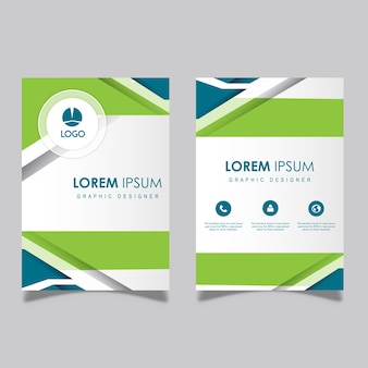 Abstract vector visiting cards