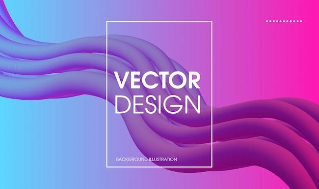 Abstract vector wave liquid colorful flow banner