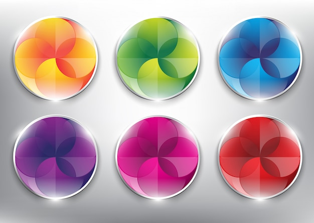 Abstract vector web buttons collection.