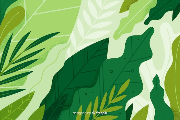 Abstract vegetation hand drawn background