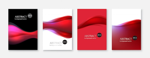 Abstract vertical backgrounds set.
