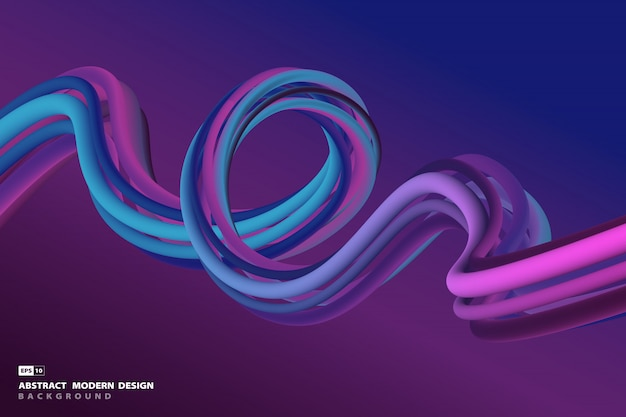 Abstract vibrant blue and violet futuristic line wavy design artwork background.