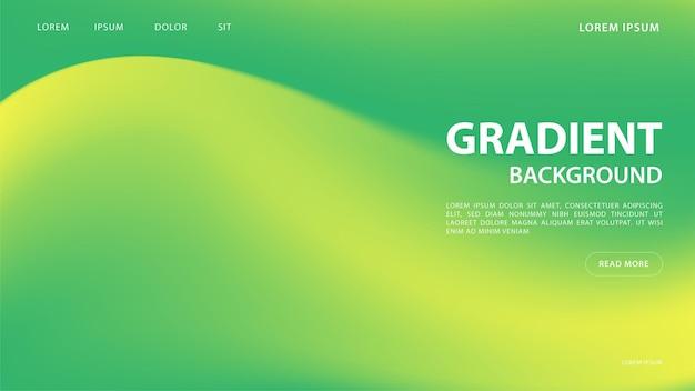 緑の色調の抽象的な鮮やかなグラデーションの背景。グラフィックのカラフルなデザイン、パンフレットのレイアウトデザインテンプレート。
