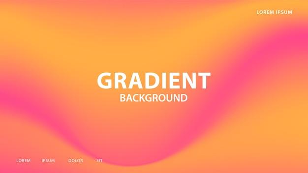 ラジアンとオレンジの色調の抽象的な鮮やかなグラデーションの背景。グラフィックのカラフルなデザイン、パンフレットのレイアウトデザインテンプレート。