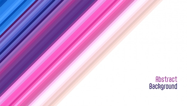 Abstract vibrant smooth diagonal lines background