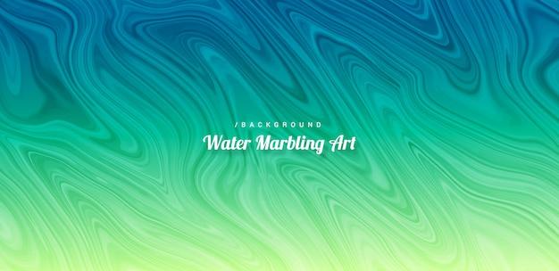 추상 활기찬 물 마블 아트 배경