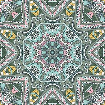 Абстрактный викторианский стиль декоративного текстильного дизайна этнический бесшовный образец