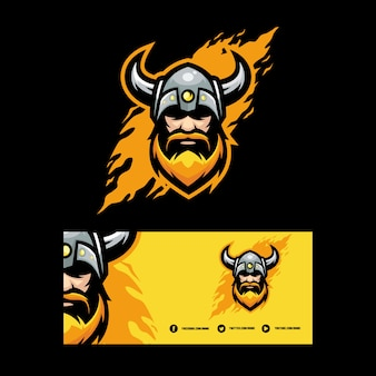 Abstract viking illustration vector design template