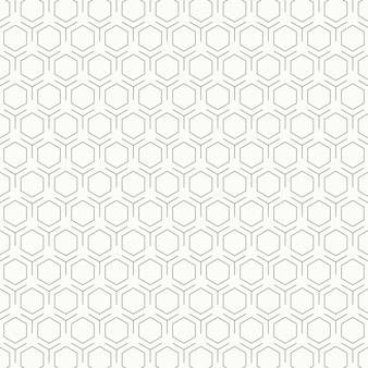 Abstract vintage black and white hexagon pattern design background.