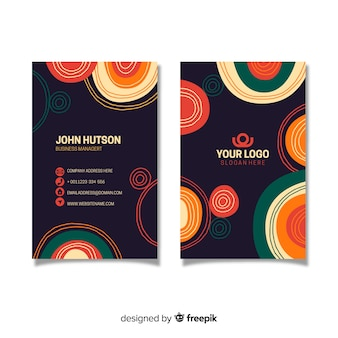 Abstract vintage business card template
