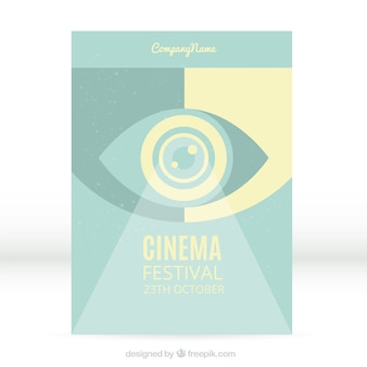 Abstract vintage film festival poster