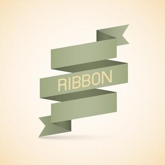 Abstract vintage ribbon