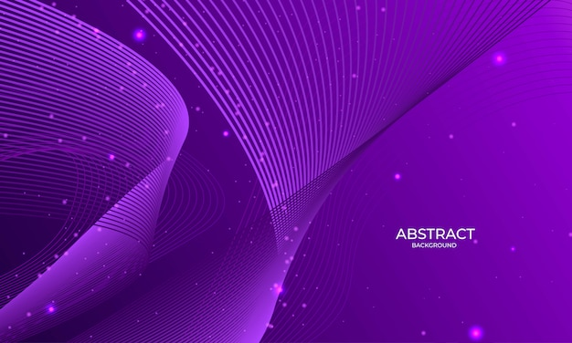 Abstract violet background with outline shapes