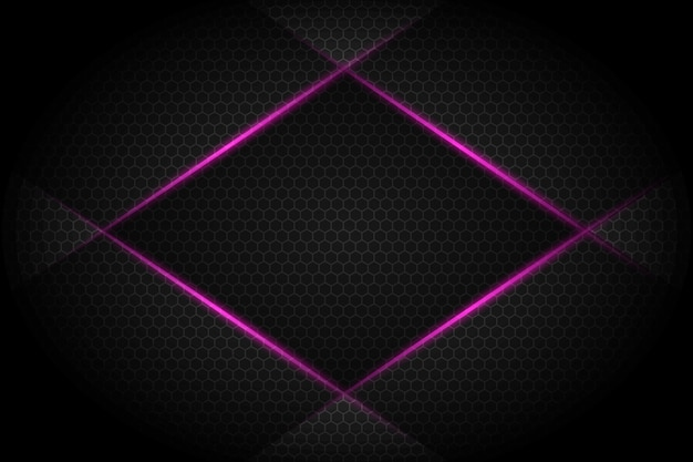Abstract violet light line slash on dark grey blank space design modern futuristic background