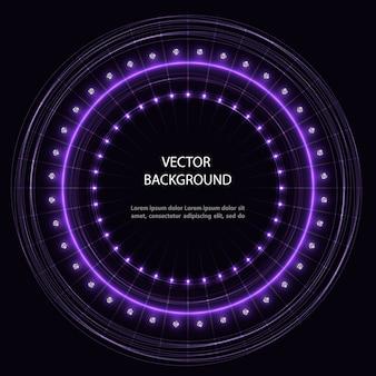 Абстрактный фиолетовый круг движения