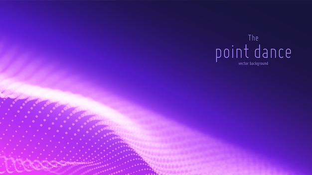 Abstract violet particle wave background