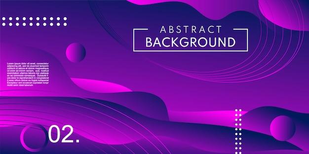 Abstract violet purple fluid shape modern background