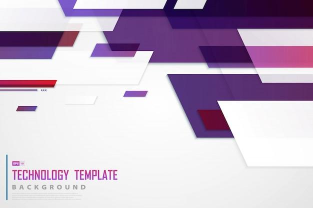 未来の背景の抽象的な紫赤ハイテクテンプレートデザイン。