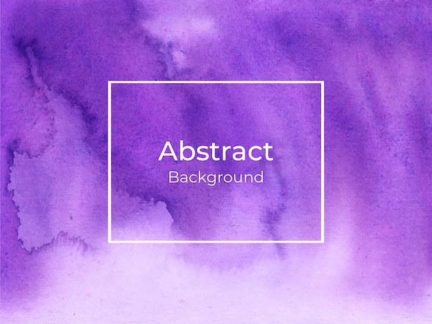Abstract violet watercolor background
