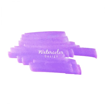 Abstract violet watercolor brush design background