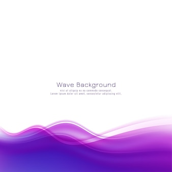 Abstract violet wave background