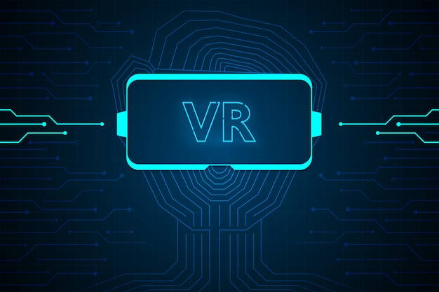 Abstract virtual reality technology future interface hud  design for business.