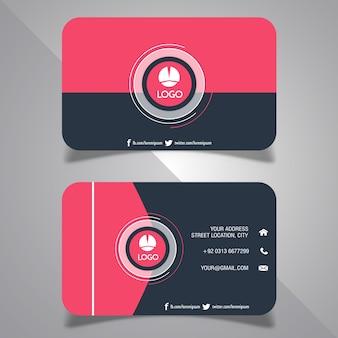추상 방문 카드 디자인