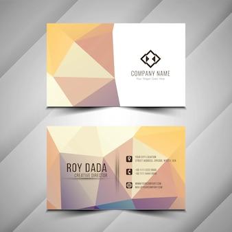 Абстрактная визитная карточка стильный дизайн шаблона