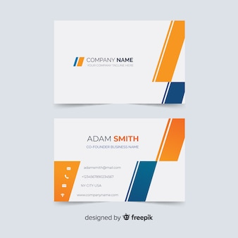 Abstract visiting card template with shapes