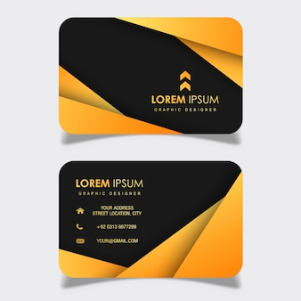 Abstract Visiting Card