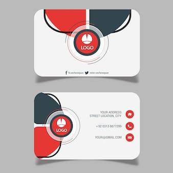 抽象的な訪問カード