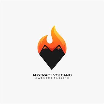 抽象的な火山のロゴのデザイン